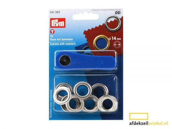 10x prym eyelets with washers 14mm