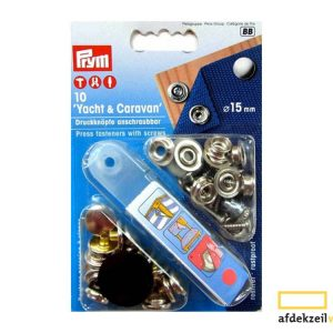 10x prym press fasteners with screws 15mm