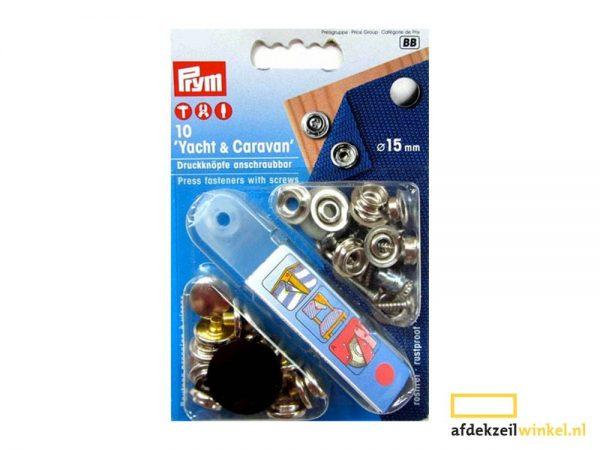 10x prym press fasteners with screws 15mm