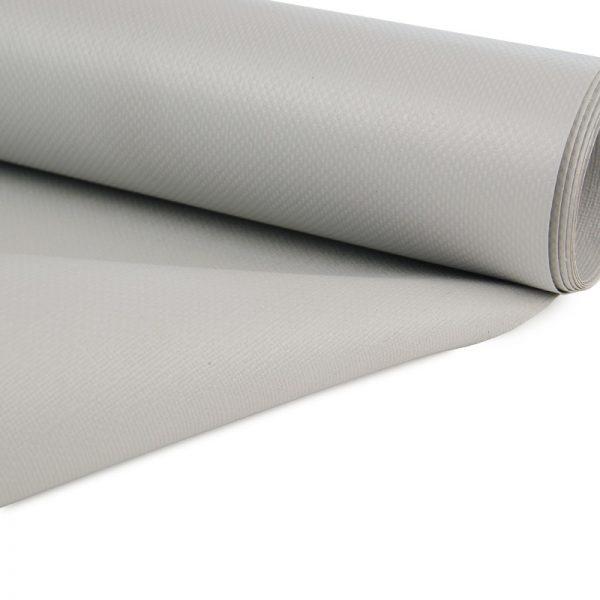 5m Grey 450gsm PVC Tarpaulin Luxury