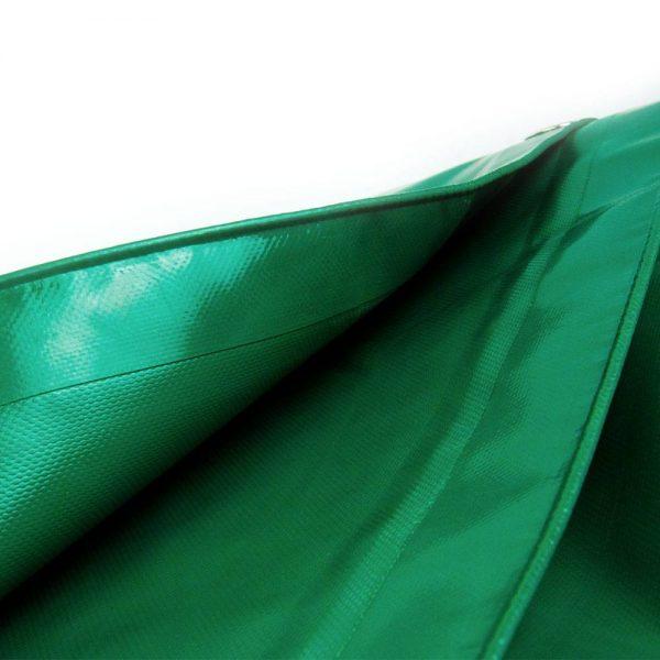 5x6 Green tarpaulin sheet 650gsm PVC cover with Aluminium eyelets