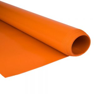 2.5m Orange RAL 2004 680gsm PVC tarpaulin