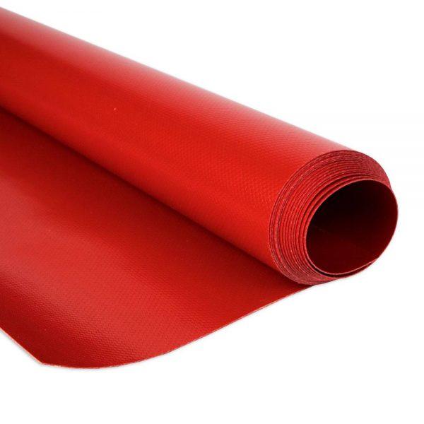 2.5m Red RAL3002 680gsm PVC tarpaulin