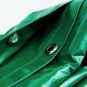 3x6 Green tarpaulin sheet 650gsm PVC cover tarpaulin with Aluminium eyelets