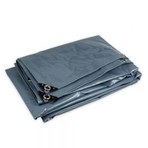 5x8 Grey tarpaulin sheet 650gsm PVC cover tarpaulin with Aluminium eyelets