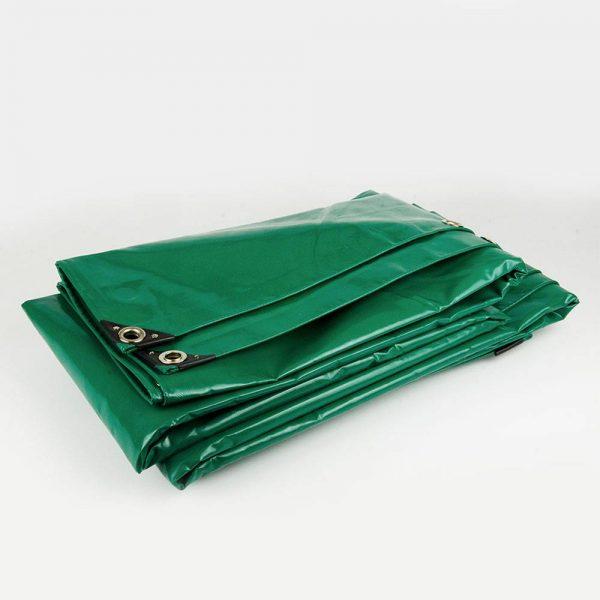 6x10 Green tarpaulin sheet 650gsm PVC cover tarpaulin with Aluminium eyelets
