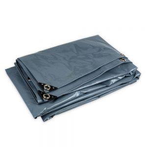 6x8 Grey tarpaulin sheet 650gsm PVC cover tarpaulin with Aluminium eyelets