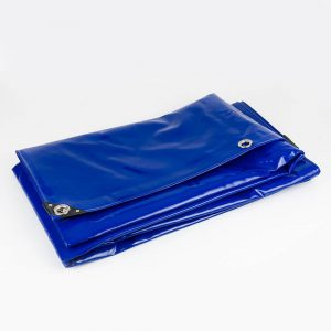 8x10 Blue tarpaulin sheet 650gsm PVC cover with Aluminium eyelets