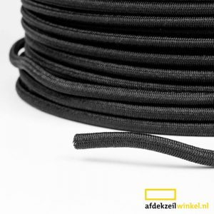 Trapezekoord 6mm Black per meter Multi PE